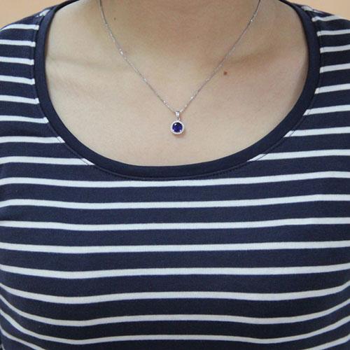 pendentif femme argent zirconium 8300452 pic4