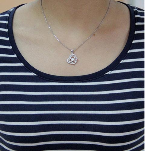 pendentif femme argent zirconium 8300461 pic4
