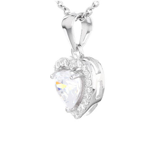 pendentif femme argent zirconium 8300462 pic2