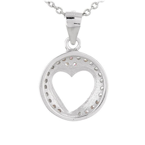 pendentif femme argent zirconium 8300463 pic3