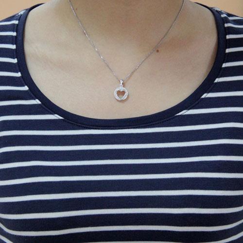 pendentif femme argent zirconium 8300463 pic4