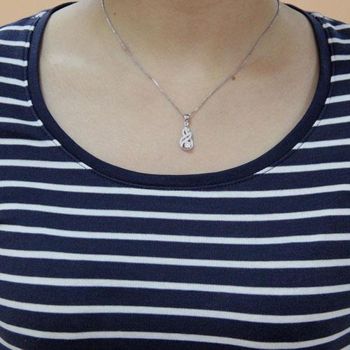 pendentif femme argent zirconium 8300464 pic4