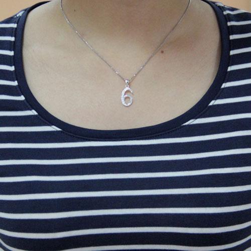 pendentif femme argent zirconium 8300472 pic4
