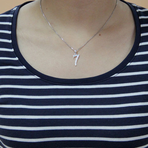 pendentif femme argent zirconium 8300473 pic4