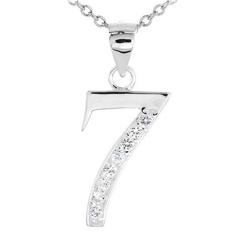 pendentif femme argent zirconium 8300473