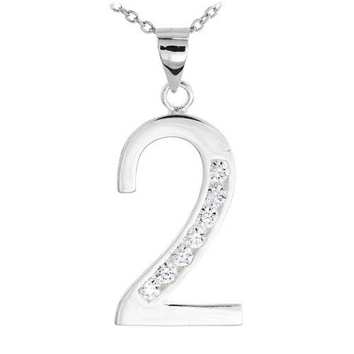 pendentif femme argent zirconium 8300478