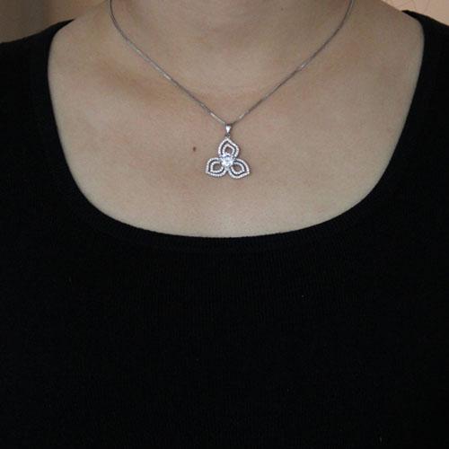 pendentif femme argent zirconium 8300486 pic4