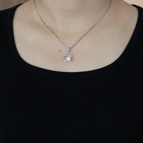 pendentif femme argent zirconium 8300487 pic4