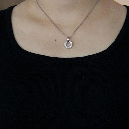 pendentif femme argent zirconium 8300489 pic4