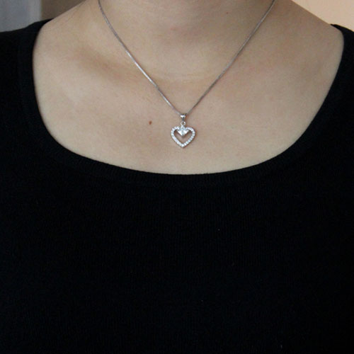 pendentif femme argent zirconium 8300491 pic4