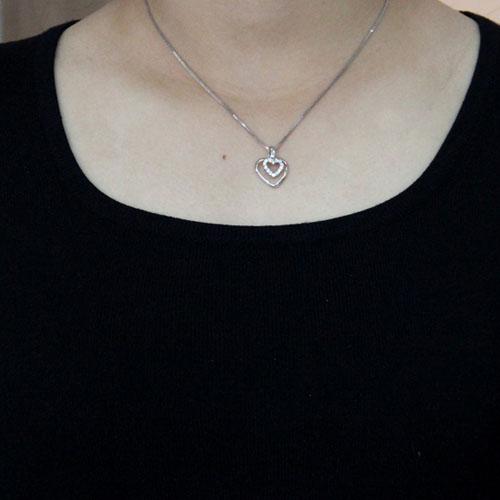 pendentif femme argent zirconium 8300493 pic4