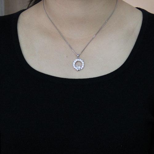 pendentif femme argent zirconium 8300498 pic4