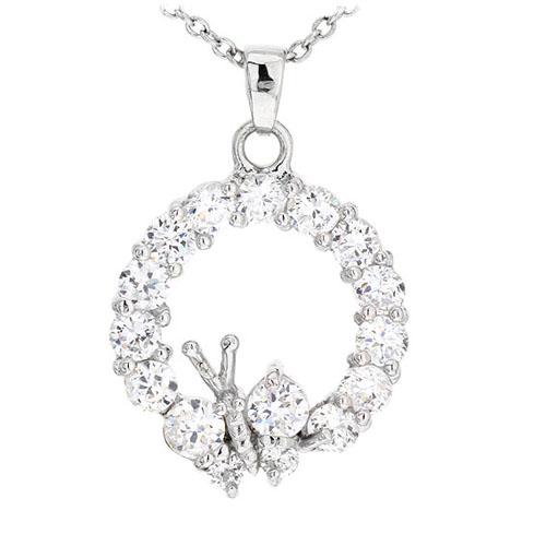 pendentif femme argent zirconium 8300498