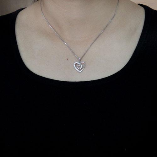 pendentif femme argent zirconium 8300499 pic4