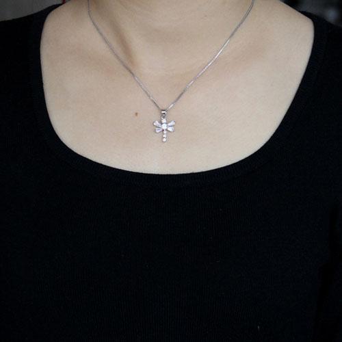 pendentif femme argent zirconium 8300514 pic4