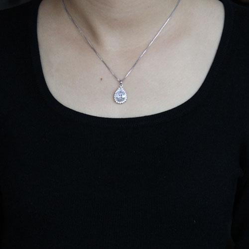 pendentif femme argent zirconium 8300526 pic4