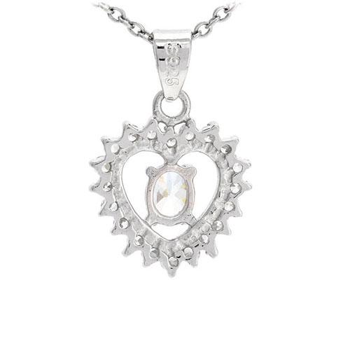 pendentif femme argent zirconium 8300528 pic3