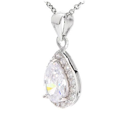 pendentif femme argent zirconium 8300529 pic2