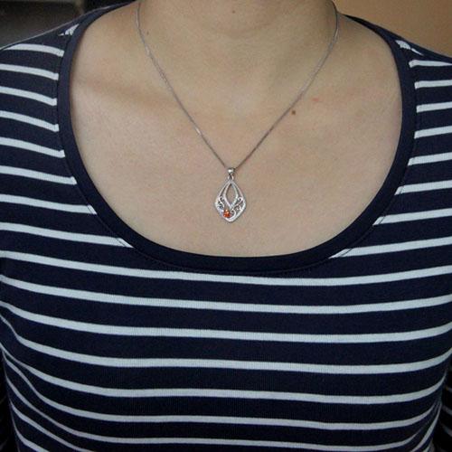pendentif femme argent zirconium 8300538 pic4