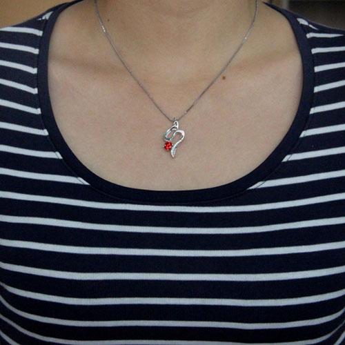 pendentif femme argent zirconium 8300542 pic4