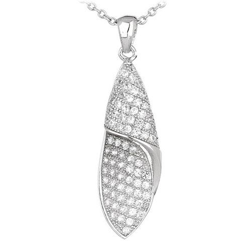 pendentif femme argent zirconium 8300549