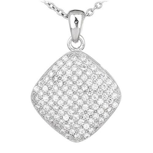 pendentif femme argent zirconium 8300551