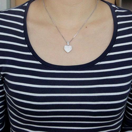 pendentif femme argent zirconium 8300552 pic4