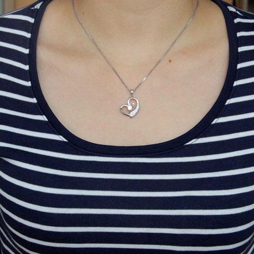 pendentif femme argent zirconium 8300554 pic4