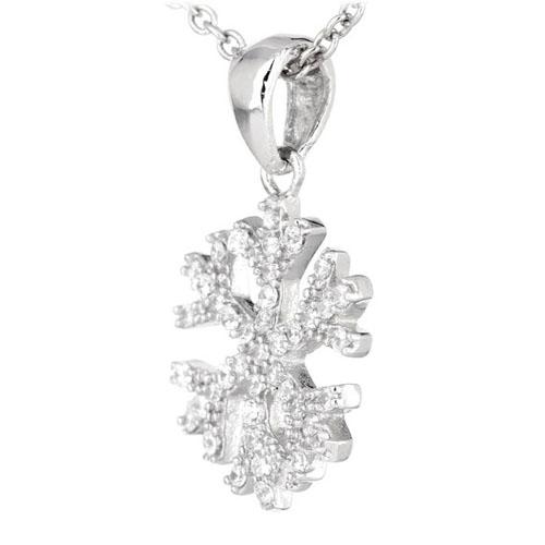 pendentif femme argent zirconium 8300555 pic2