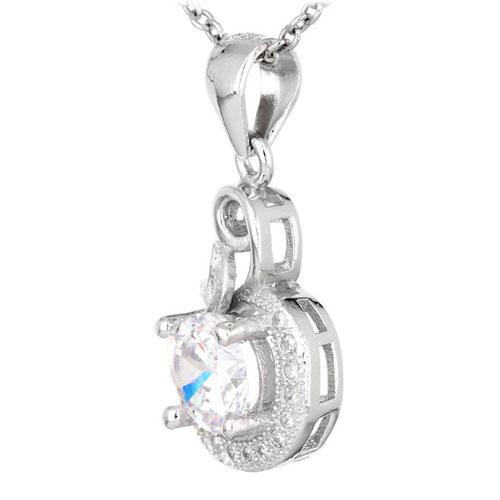 pendentif femme argent zirconium 8300559