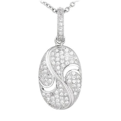 pendentif femme argent zirconium 8300570