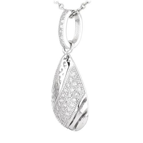 pendentif femme argent zirconium 8300574 pic2