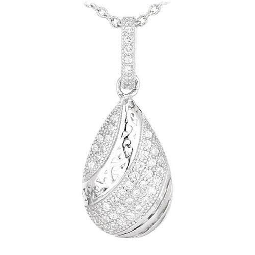pendentif femme argent zirconium 8300574