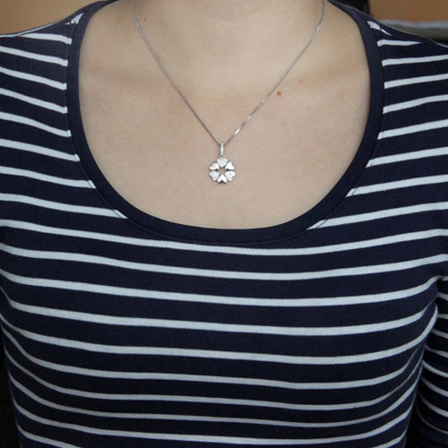 pendentif femme argent zirconium 8300578 pic4