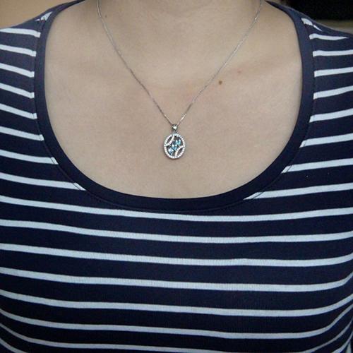 pendentif femme argent zirconium 8300597 pic4