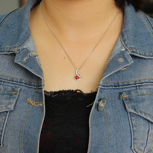 pendentif femme argent zirconium 8300605 pic4