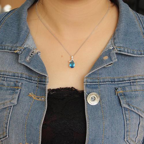 pendentif femme argent zirconium 8300615 pic4