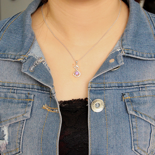 pendentif femme argent zirconium 8300622 pic4