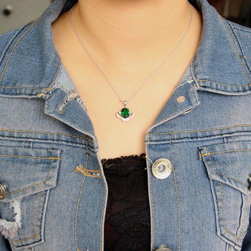 pendentif femme argent zirconium 8300623 pic4