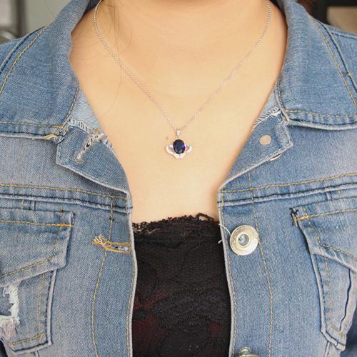 pendentif femme argent zirconium 8300626 pic4