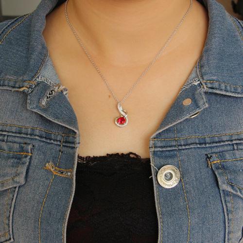 pendentif femme argent zirconium 8300636 pic4