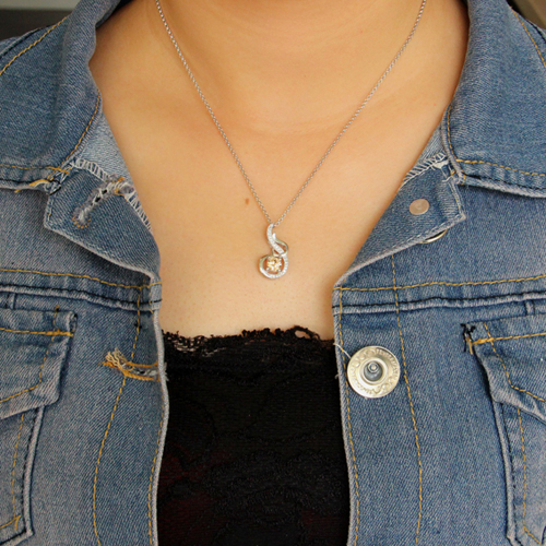 pendentif femme argent zirconium 8300638 pic4