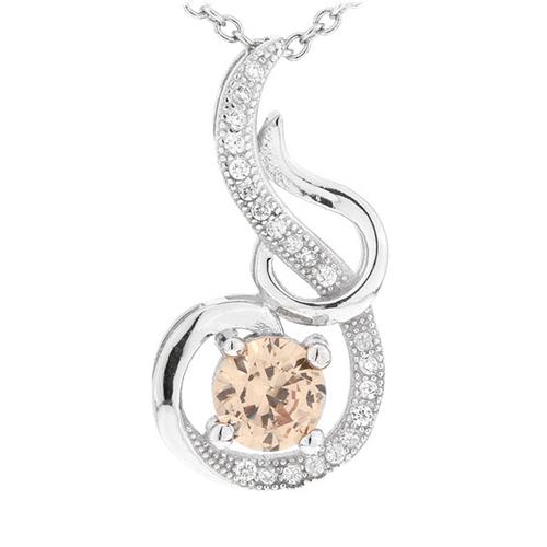 pendentif femme argent zirconium 8300638