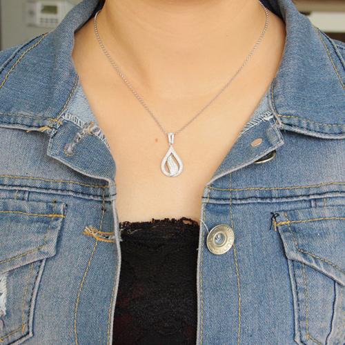 pendentif femme argent zirconium 8300674 pic4