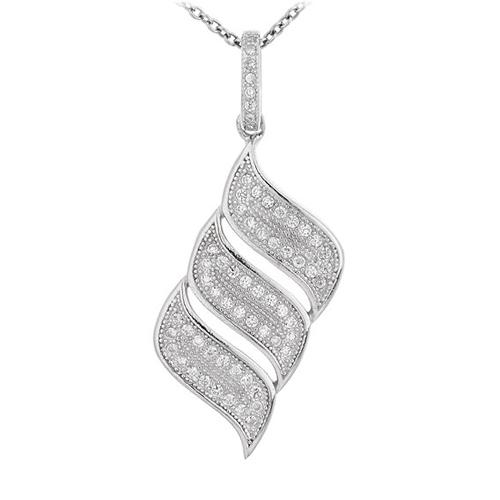 pendentif femme argent zirconium 8300675