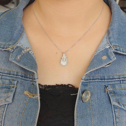 pendentif femme argent zirconium 8300681 pic4