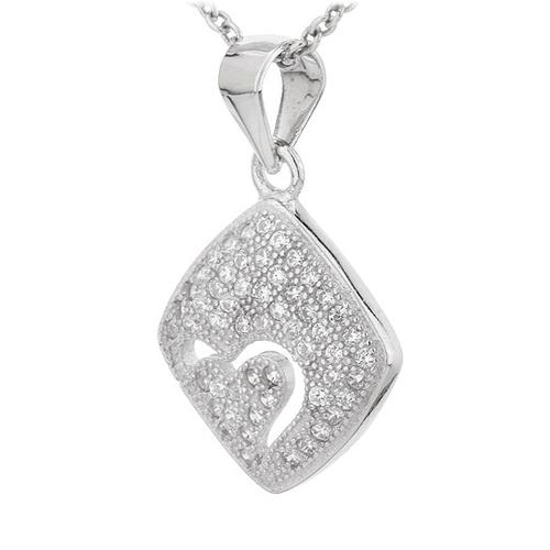 pendentif femme argent zirconium 8300699 pic2