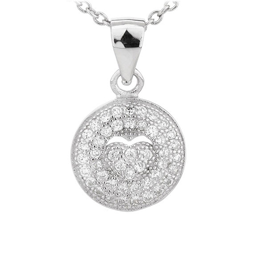 pendentif femme argent zirconium 8300700