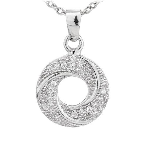 pendentif femme argent zirconium 8300701