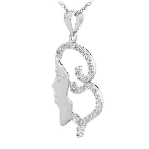 pendentif femme argent zirconium 8300710 pic2